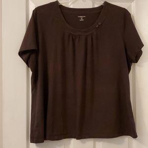 Women's chocolate brown shirt